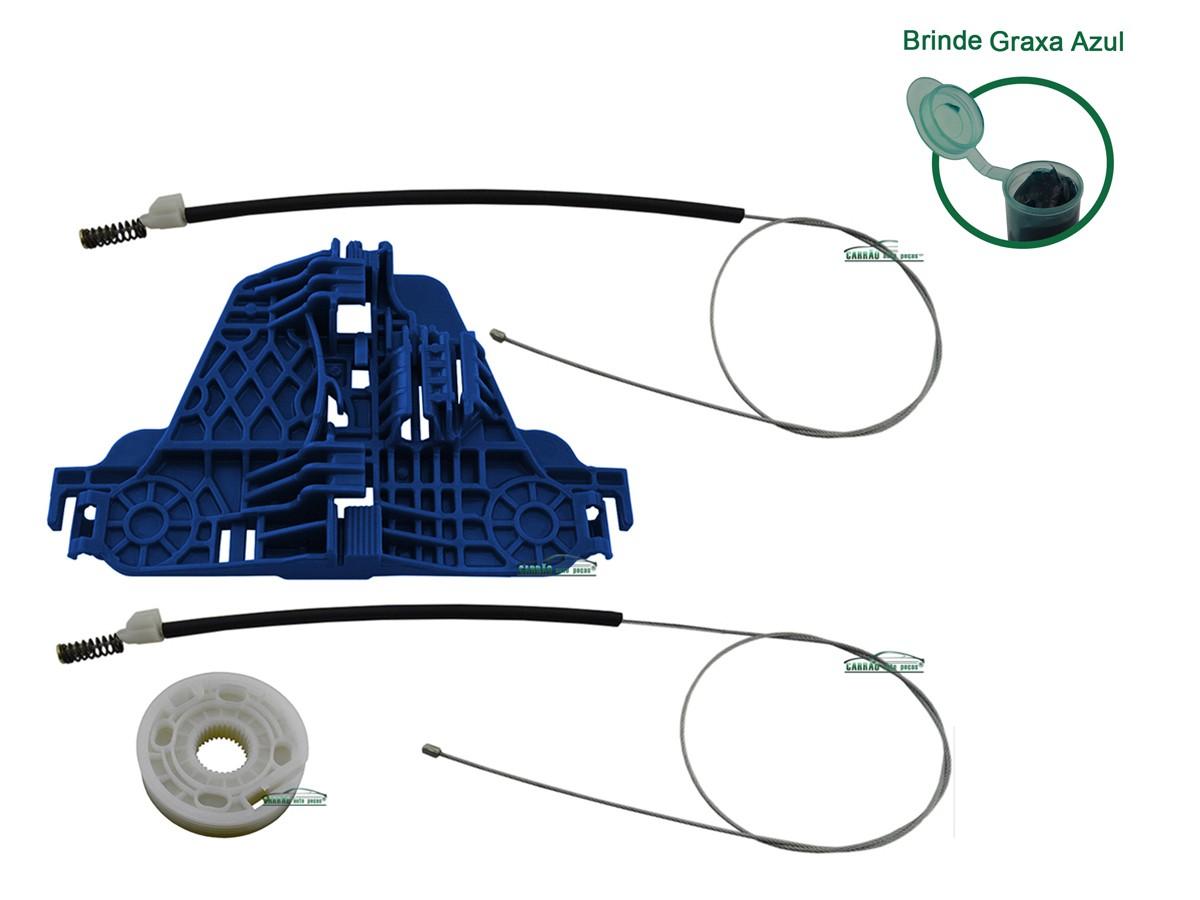 Kit Reparo Máquina de Vidro Elétrico Com Arraste Dianteiro Direito Saveiro  G5
