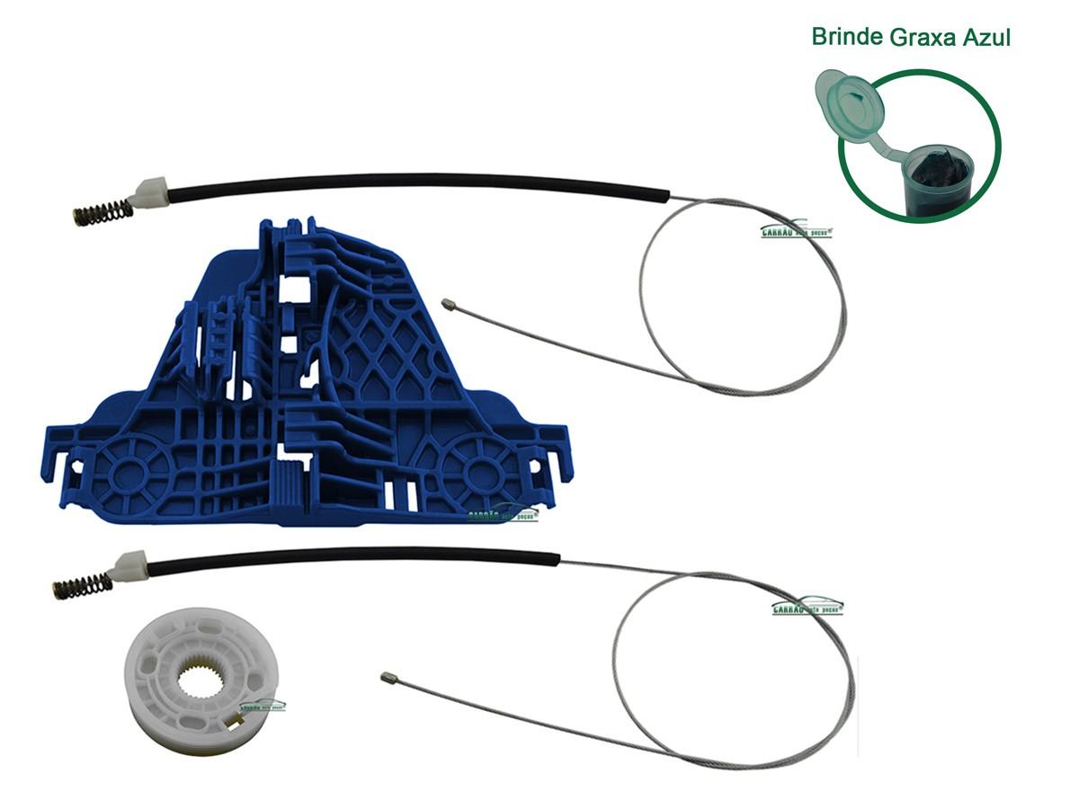 Kit Reparo Máquina de Vidro Elétrico Com Arraste Dianteiro Esquerdo Saveiro  G5