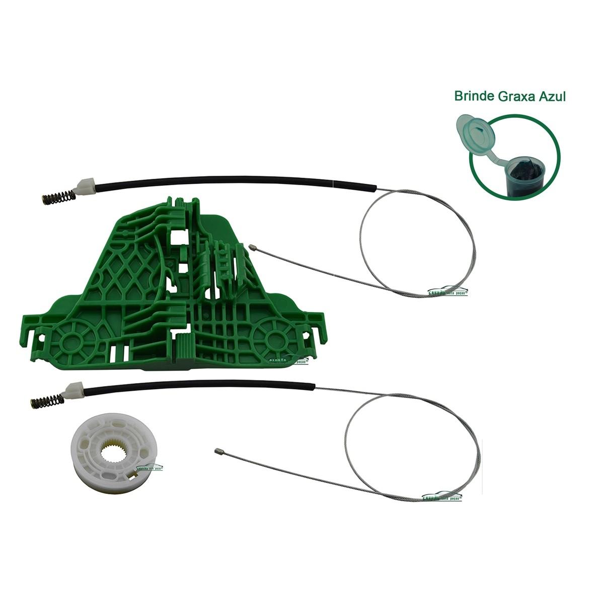 Kit Reparo Máquina de Vidro Elétrico Com Arraste Traseiro Direito Gol G5