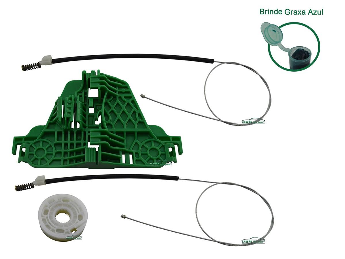 Kit Reparo Máquina de Vidro Elétrico Com Arraste Traseiro Esquerdo Gol G5