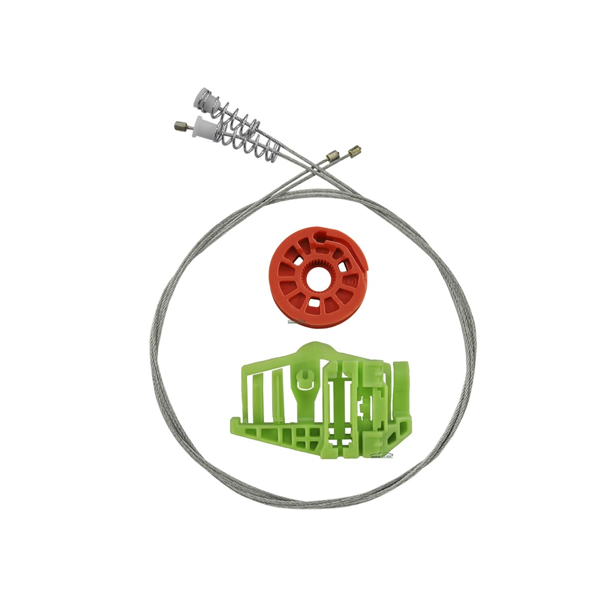 Kit Reparo Máquina de Vidro Elétrico Traseiro Bmw X1  4 Portas Direito