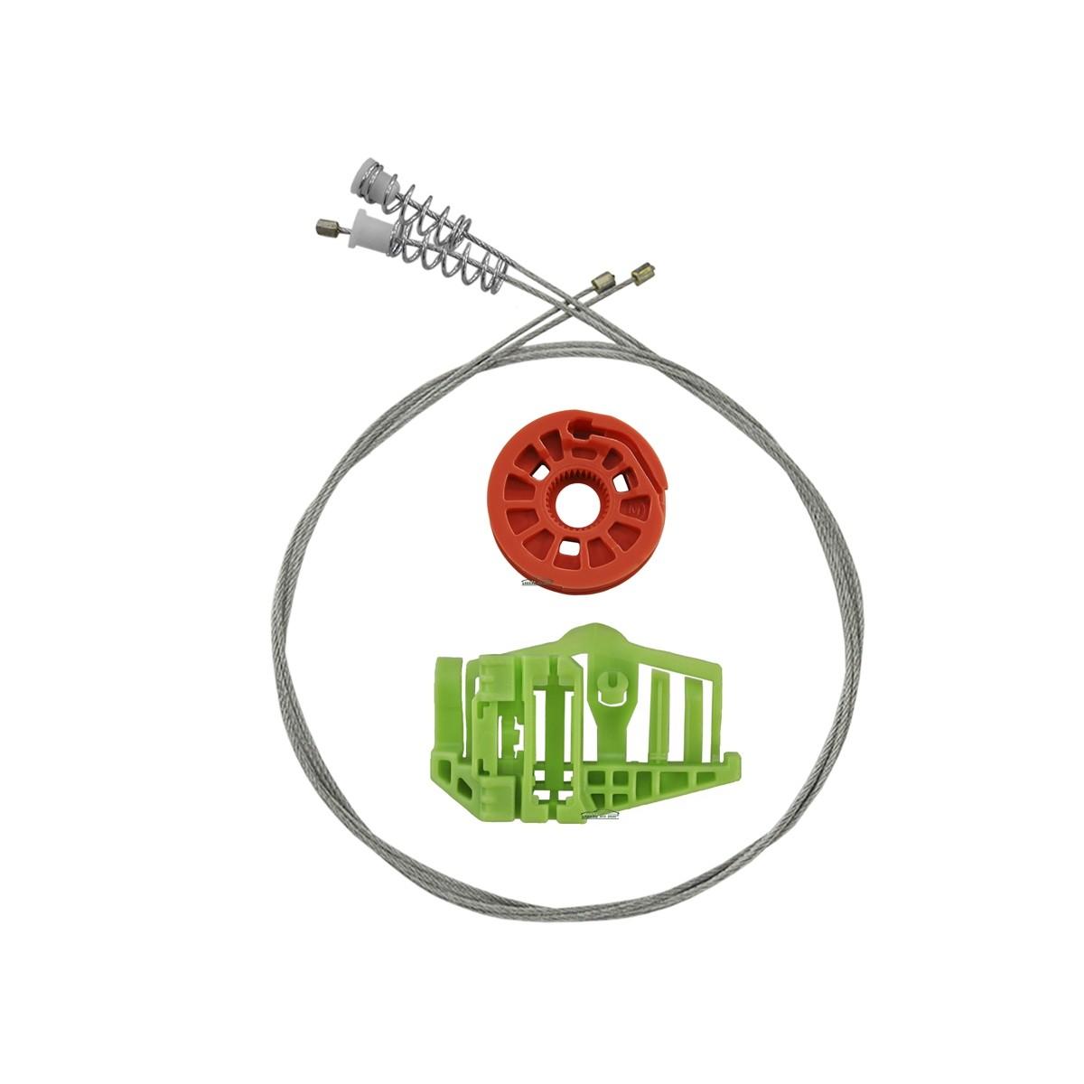 Kit Reparo Máquina de Vidro Elétrico Traseiro Bmw X1  4 Portas Esquerdo
