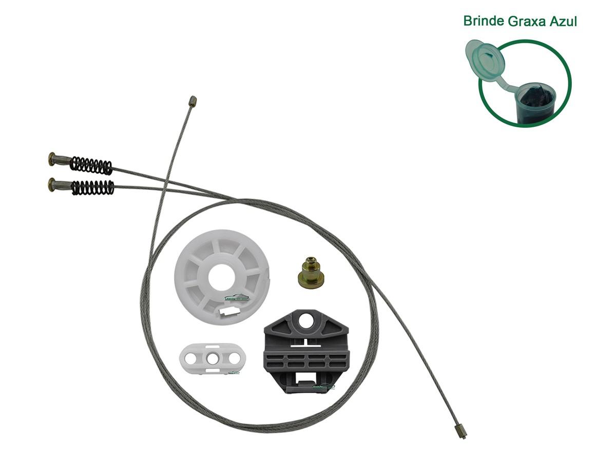 Kit Reparo Máquina de Vidro Elétrico Traseiro Com Bucha Omega LE / LD