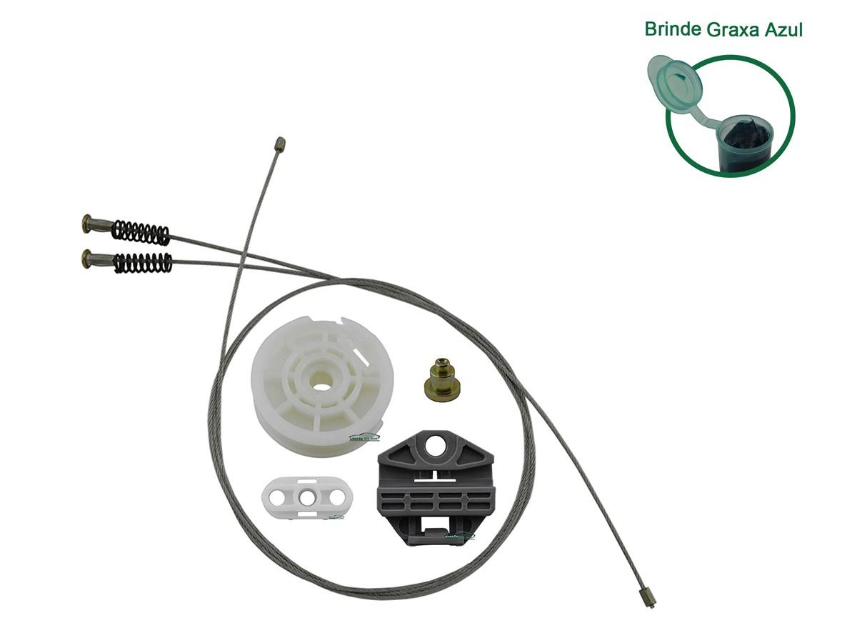 Kit Reparo Máquina de Vidro Elétrico Traseiro Corsa Após 2002