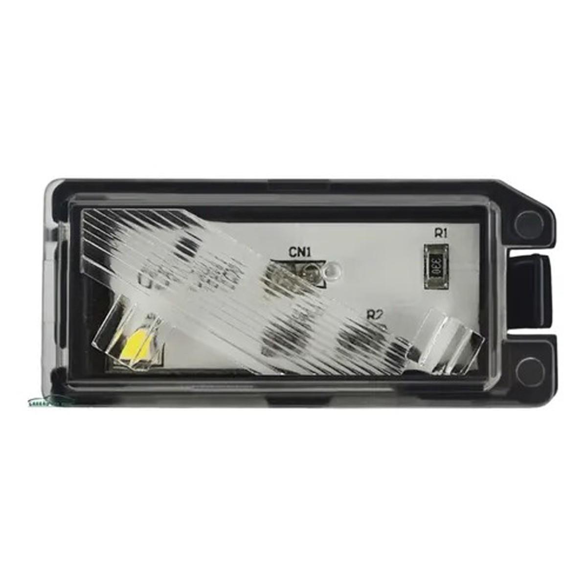 Lanterna Placa Fiat 500 Conector Redondo