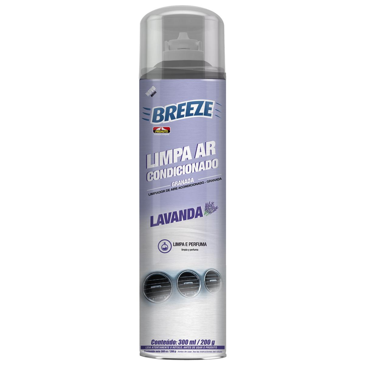 Limpa Ar Condicionado Automotivo Spray Lavanda Proauto