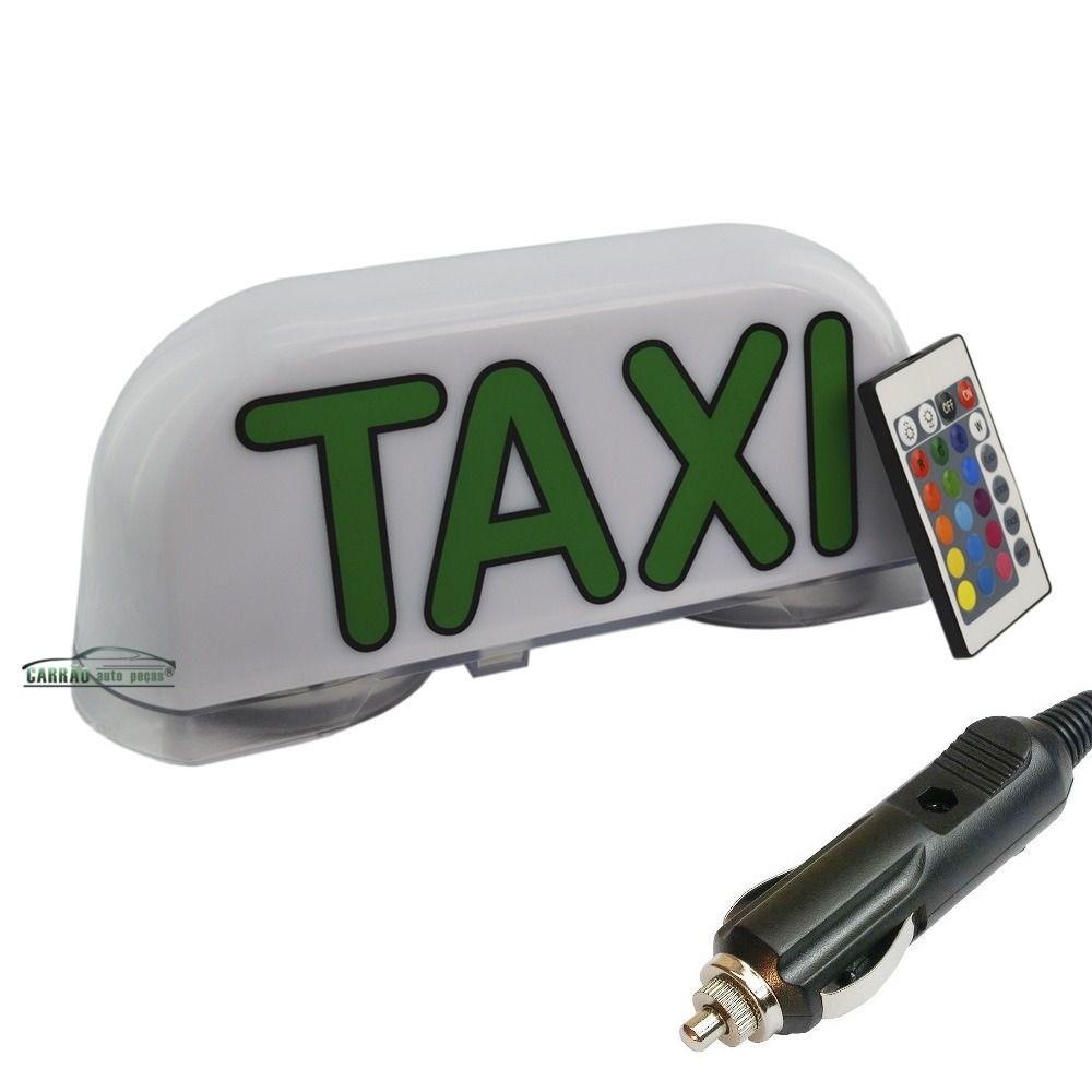 Luminoso De Táxi Led Modelo Grande Com Controle Remoto e Plug Para Acendedor de Cigarros