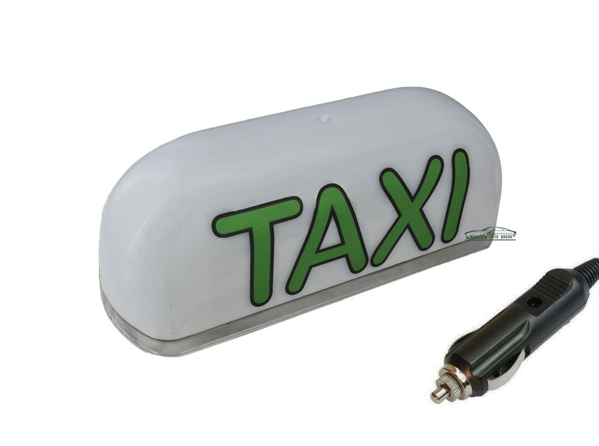 Luminoso De Táxi Led Modelo Médio Com Plug Para Acendedor De Cigarros