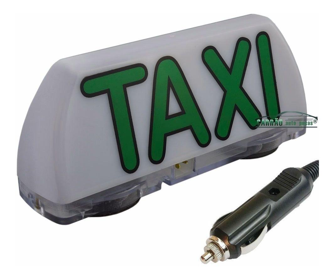 Luminoso De Táxi Led Modelo Mini Com Plug Para Acendedor De Cigarros