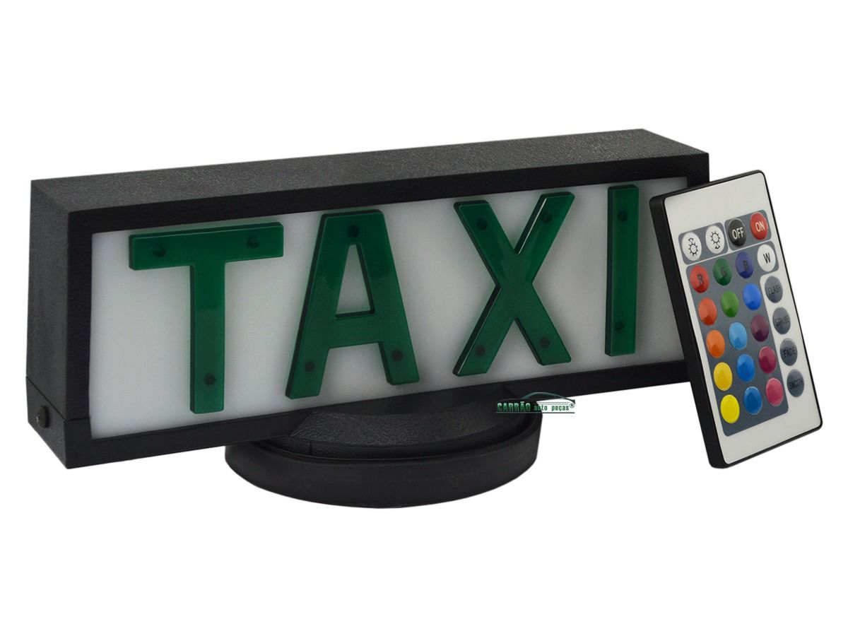 Luminoso De Táxi Retangular Com Base de Ímã Com Controle Remoto