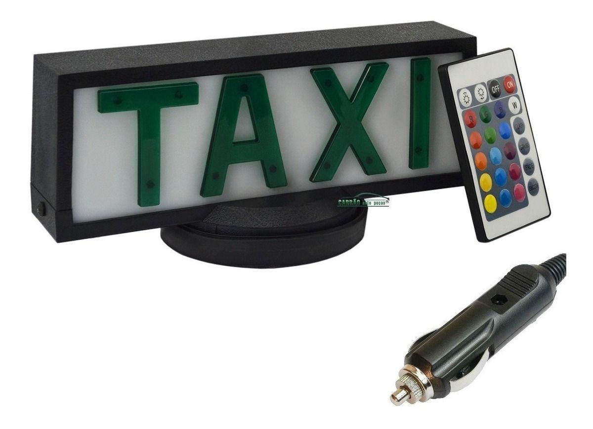 Luminoso De Táxi Retangular Com Base de Ímã Com Controle Remoto e Plug Para Acendedor de Cigarros