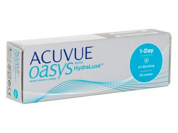 Lentes de Contato Acuvue 1-Day Oasys with Hidraluxe para Miopia