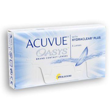 Lentes de Contato Acuvue Oasys com Hydraclear Plus para Miopia