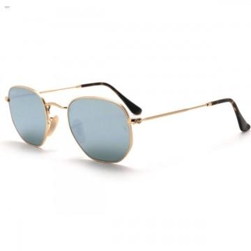 Óculos de Sol Ray-Ban Hexagonal Espelhado Prata