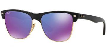 Óculos de Sol Unissex Ray-Ban ClubMaster Oversized Espelhado Violeta