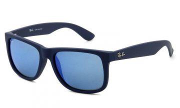 Óculos de Sol Masculino Ray-Ban Justin Azul Espelhado