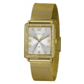 Relógio Feminino Lince Dourado LQG4665L