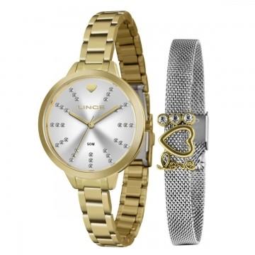 Relógio Feminino Lince  Dourado LRM4667L