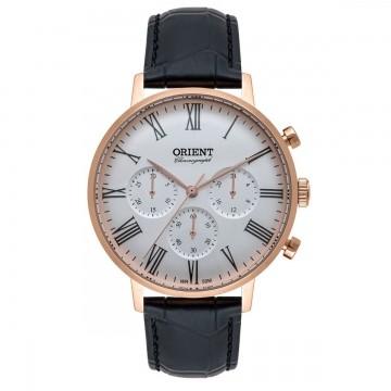 Relógio Masculino Orient MRSCC Couro