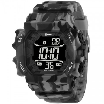 Relógio Masculino  X-Games XGPPD140 Camuflado Cinza