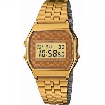 Relógio Unissex Casio A159 Dourado