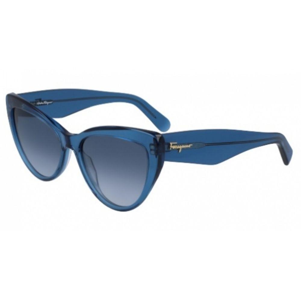 Óculos de Sol Feminino Salvatore Ferragamo SF930s Azul