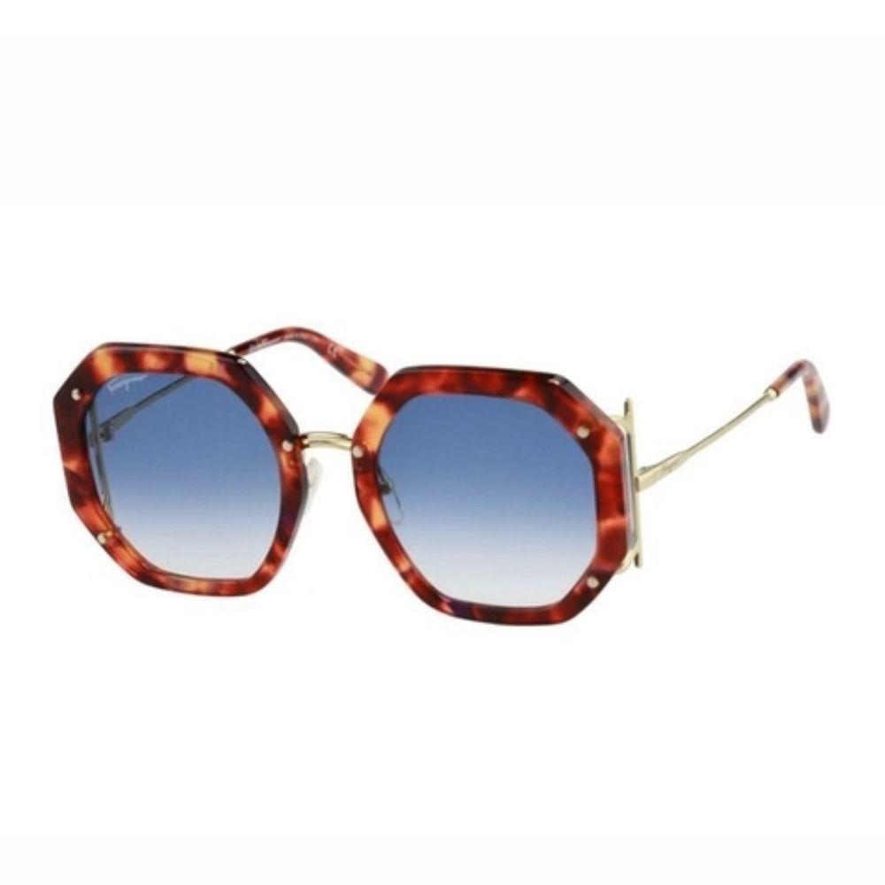 Óculos de Sol Feminino Salvatore Ferragamo SF940 Tortoise