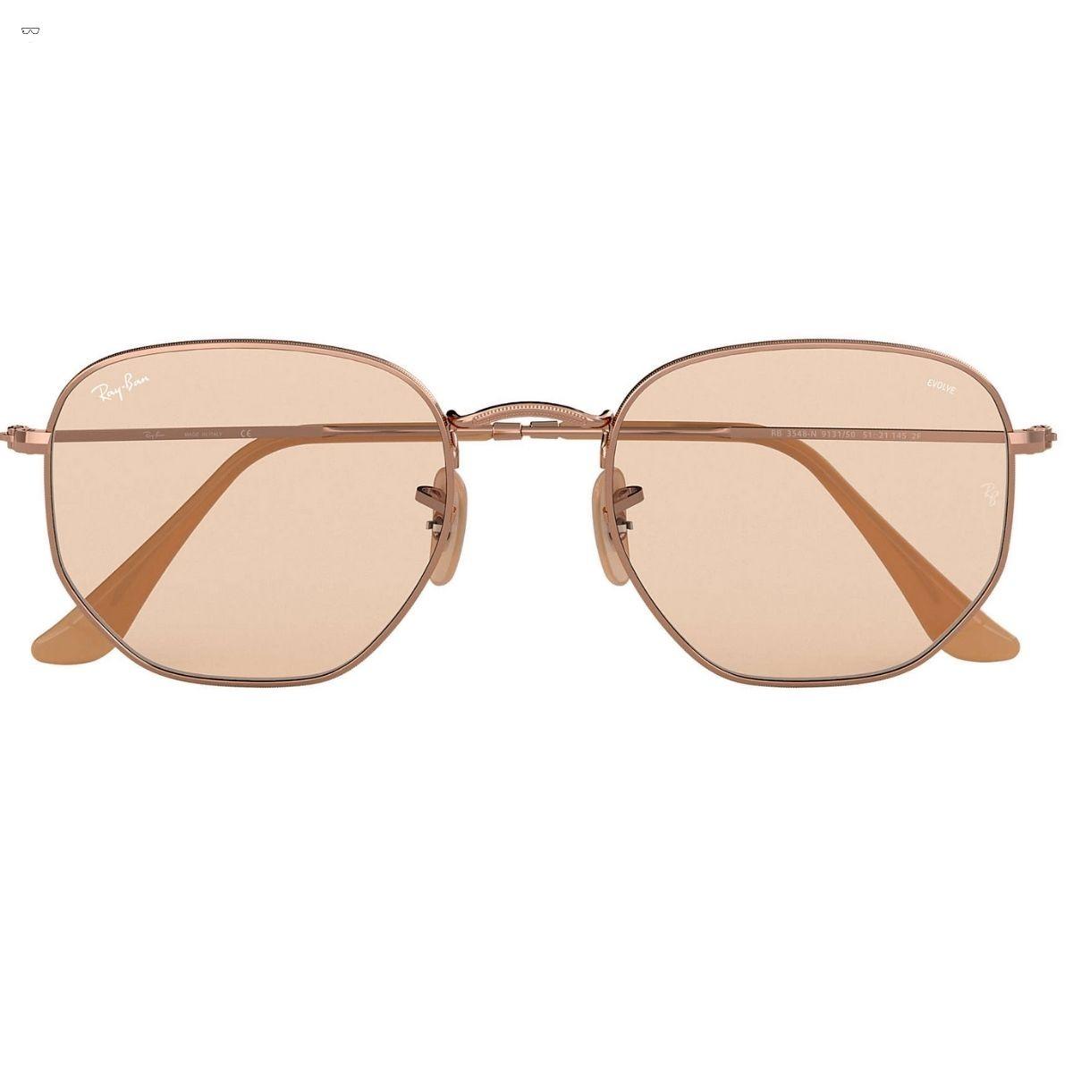 Óculos de Sol Ray-Ban Hexagonal Lente Evolve Rosê