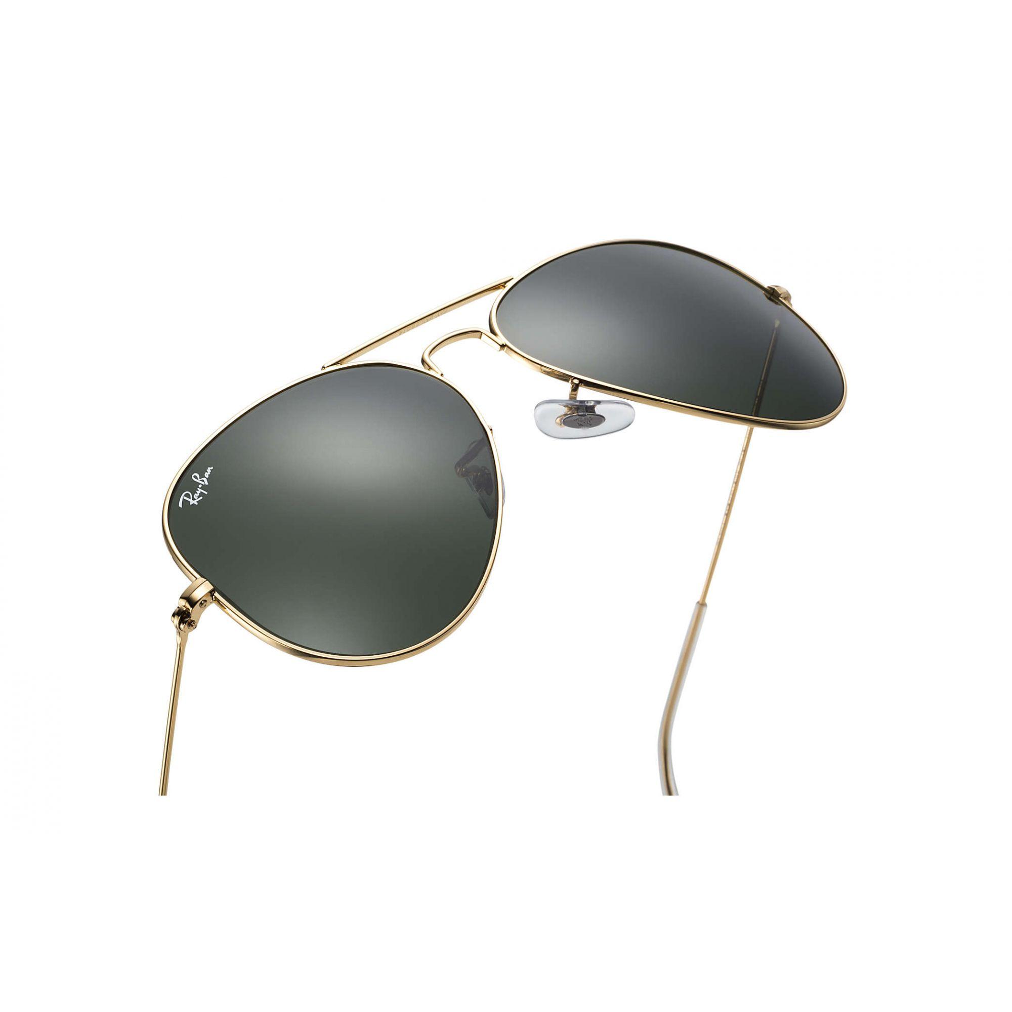 Óculos de Sol Ray-Ban Aviador Dourado com  Lente G15