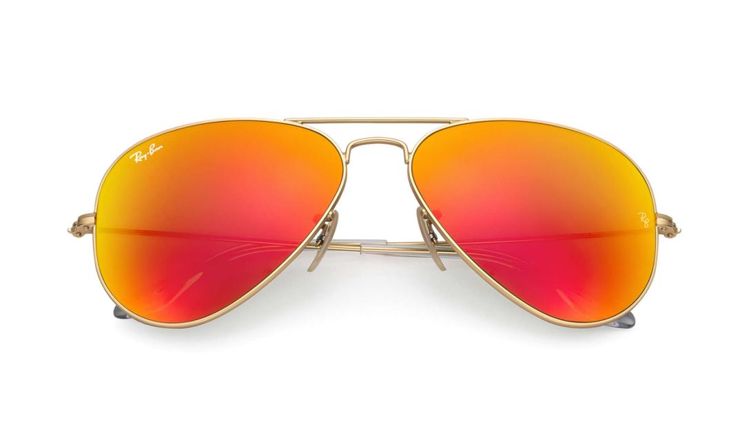 Óculos de Sol Ray-Ban Aviador Espelhado Laranja