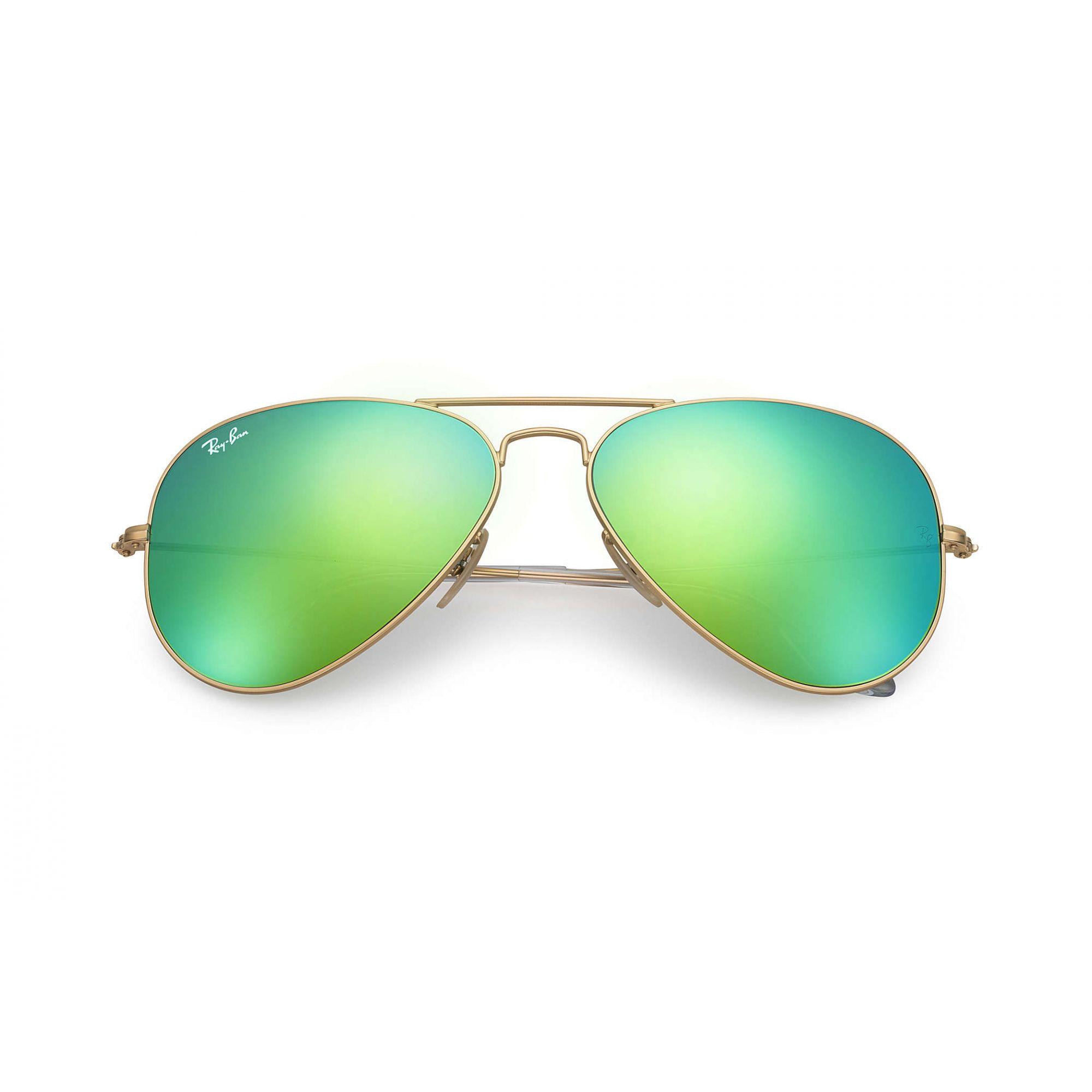 Óculos de Sol Ray-Ban Aviador Espelhado Verde