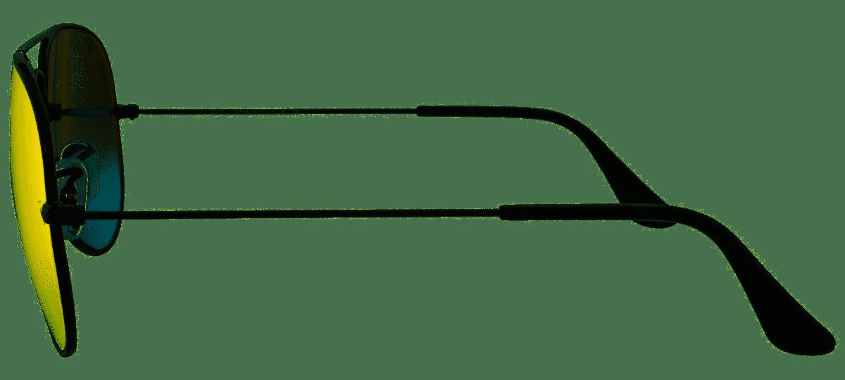 Óculos de Sol Ray-Ban Aviador Preto Espelhado Laranja