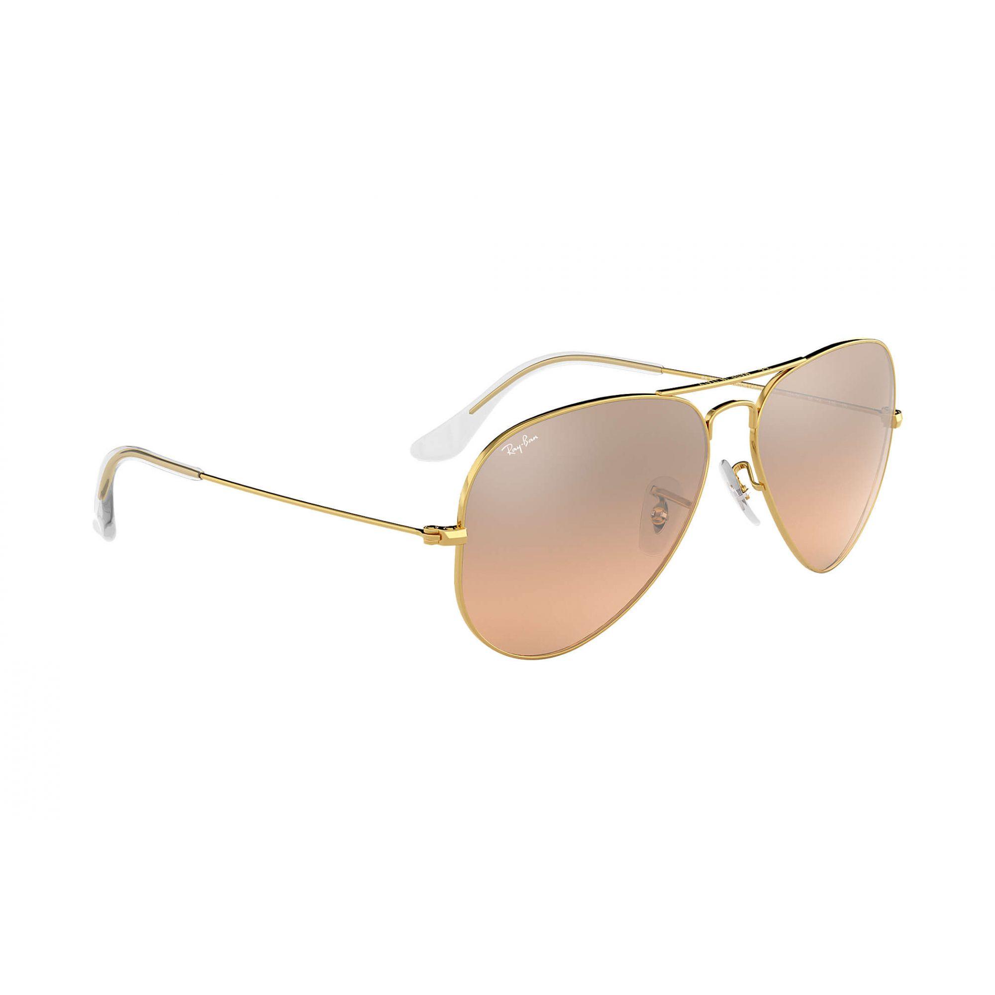 Óculos de Sol Ray-Ban Aviador Rosê