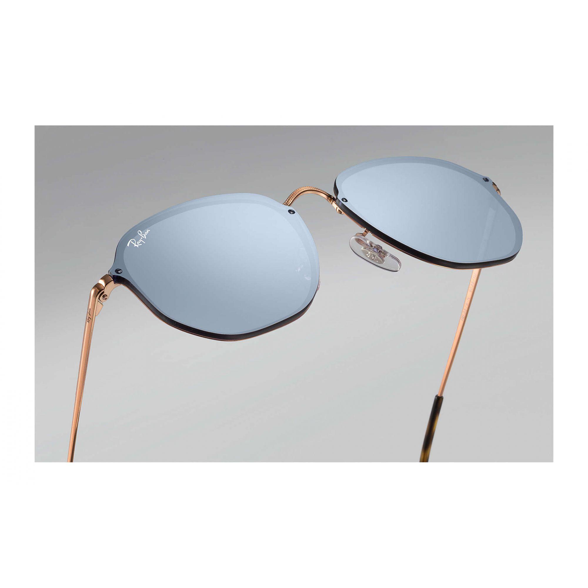 Óculos de Sol Unissex Ray-Ban Blaze Hexagonal Azul