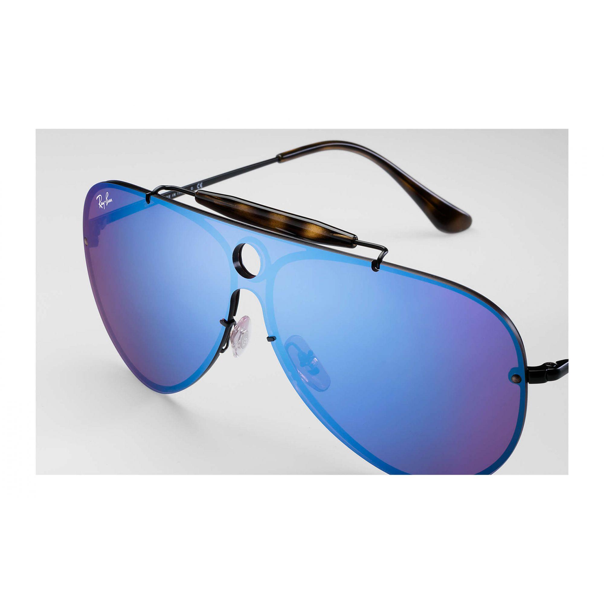 Óculos de Sol Unissex Ray-Ban Blaze Shooter Azul Violeta