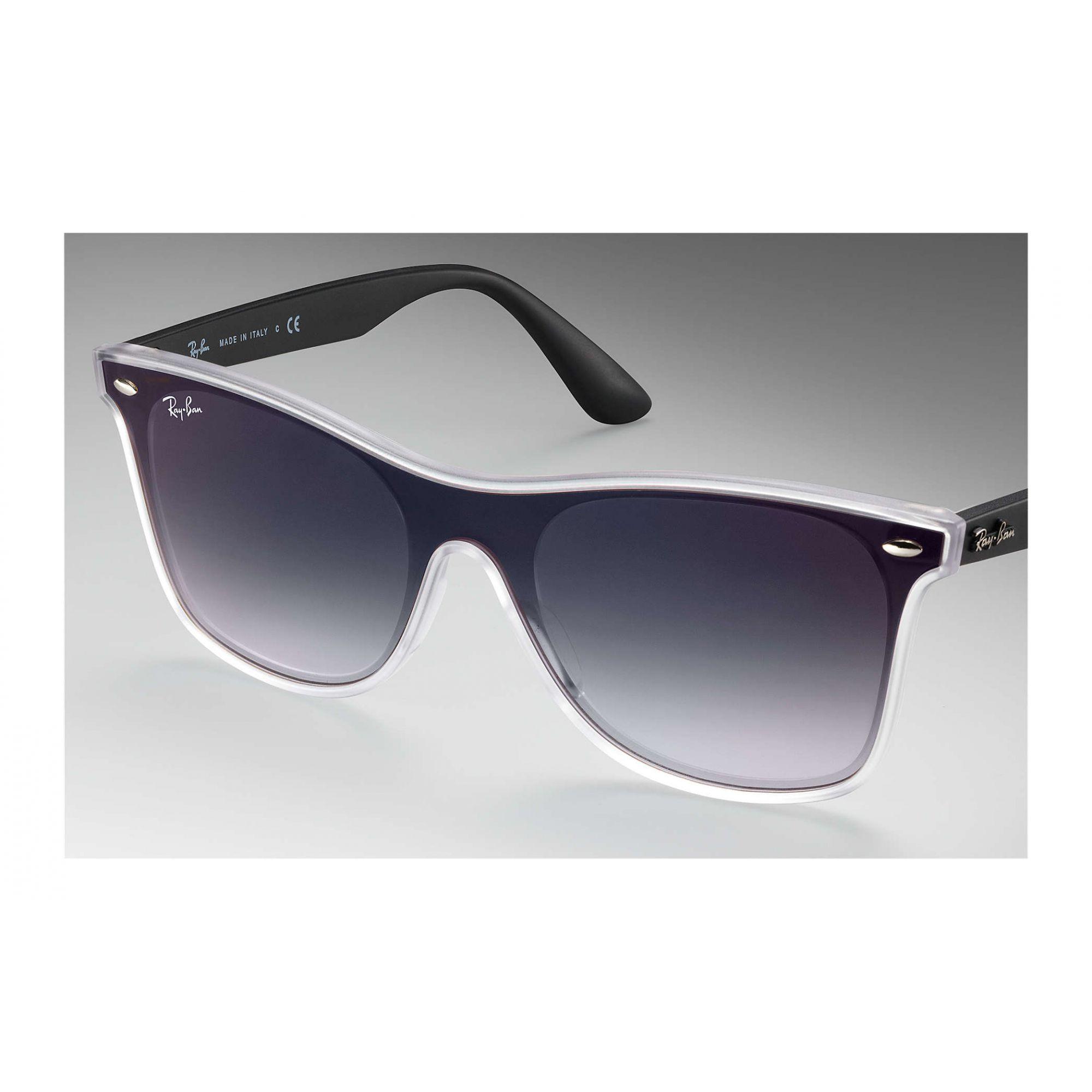 Óculos de Sol Unissex Ray-Ban Blaze Wayfarer Preto Cinzento