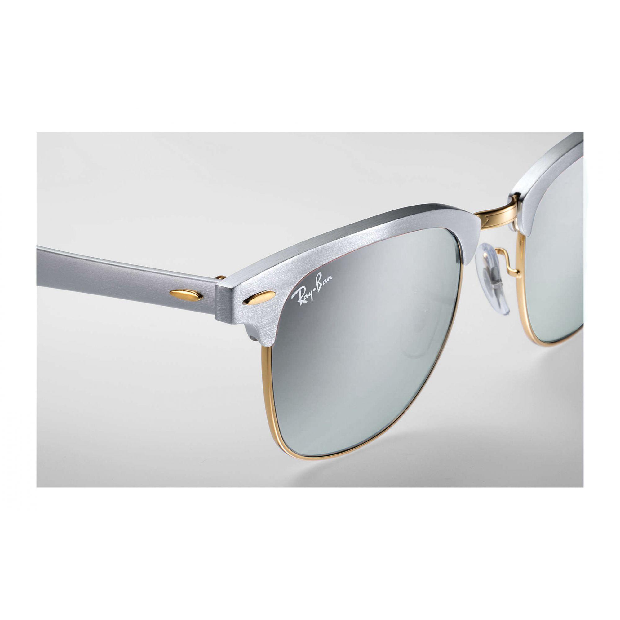 Óculos de Sol Unissex Ray-Ban ClubMaster Aluminum