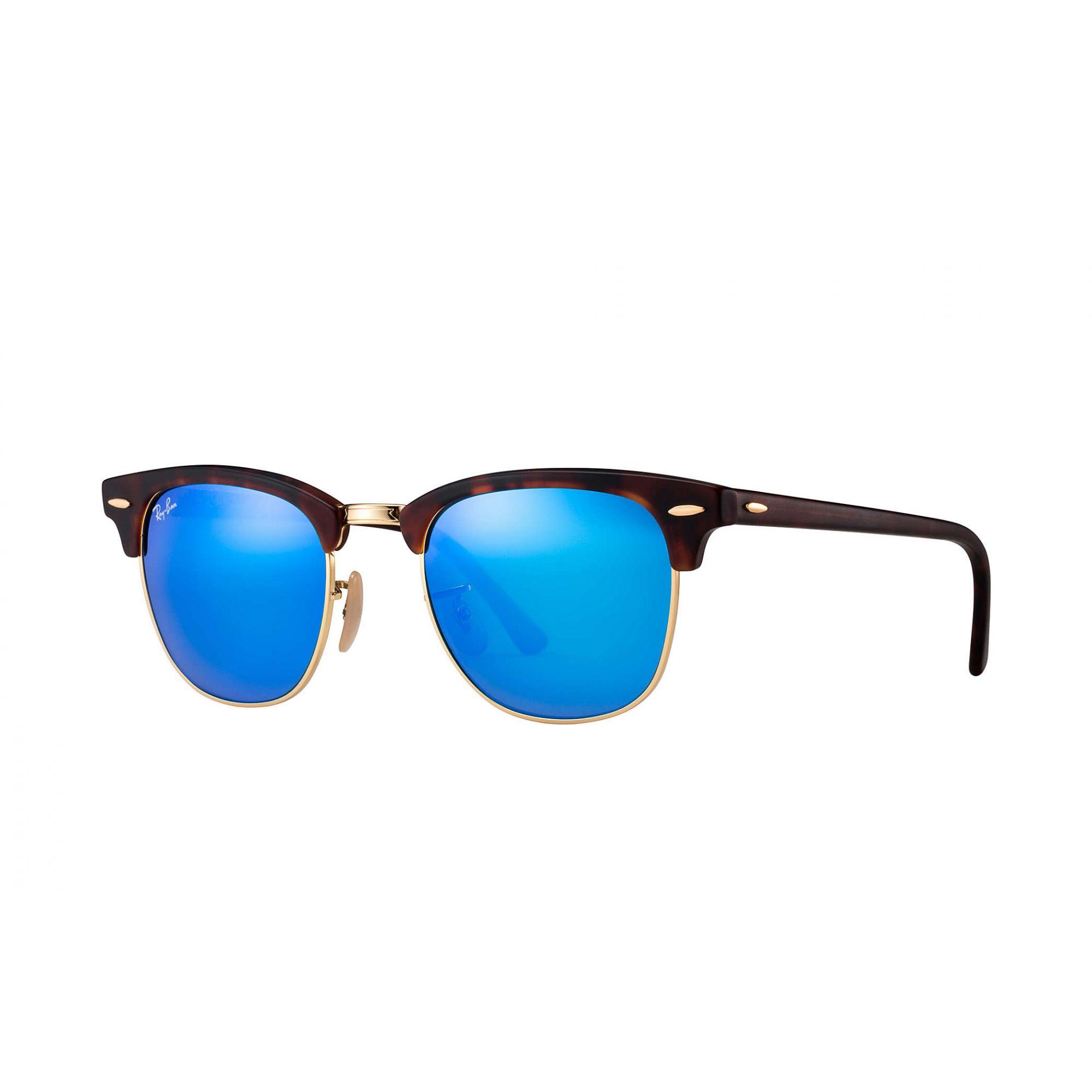Óculos de Sol Unissex Ray-Ban ClubMaster Espelhado Azul