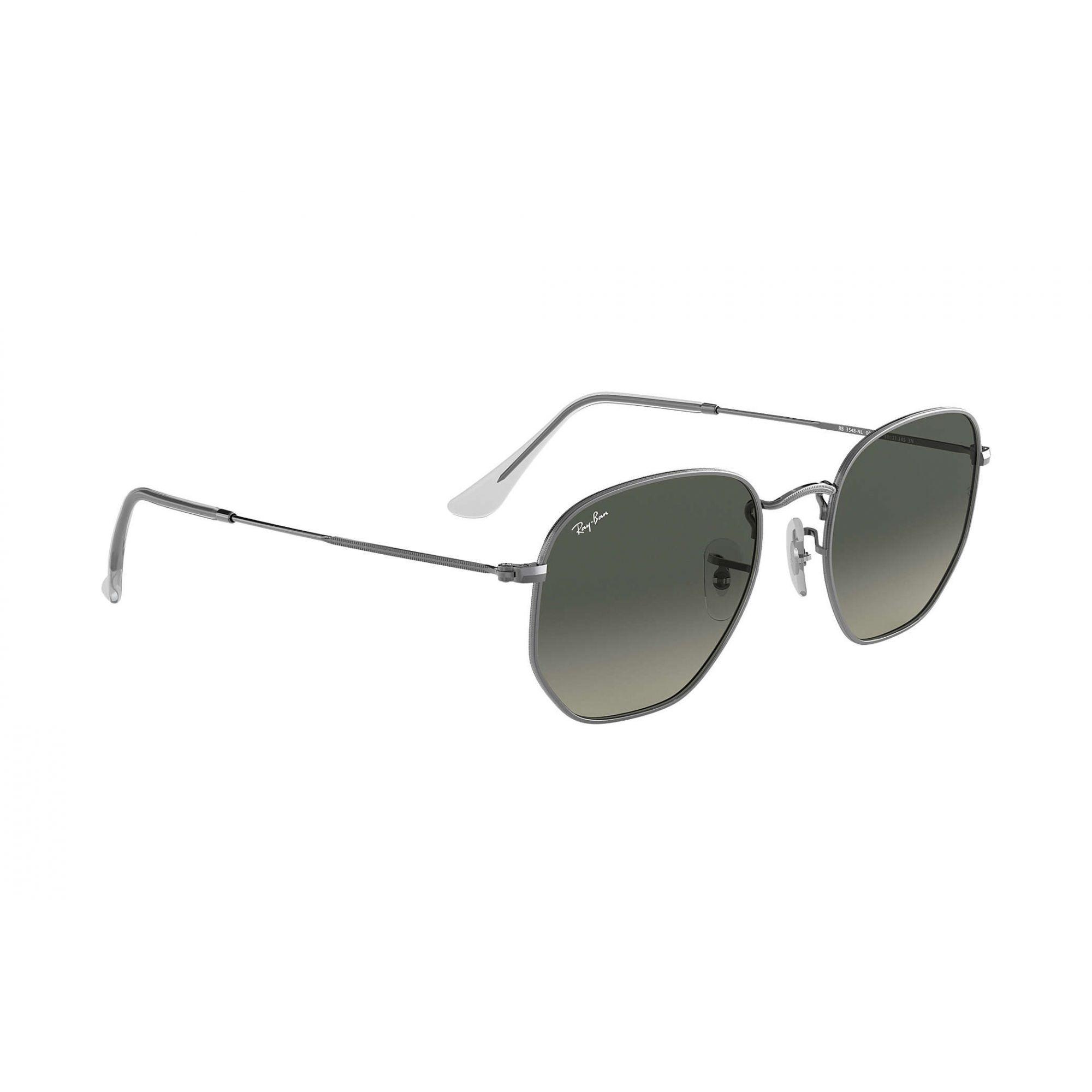 Óculos de Sol Ray-Ban Hexagonal Cinza Degradê