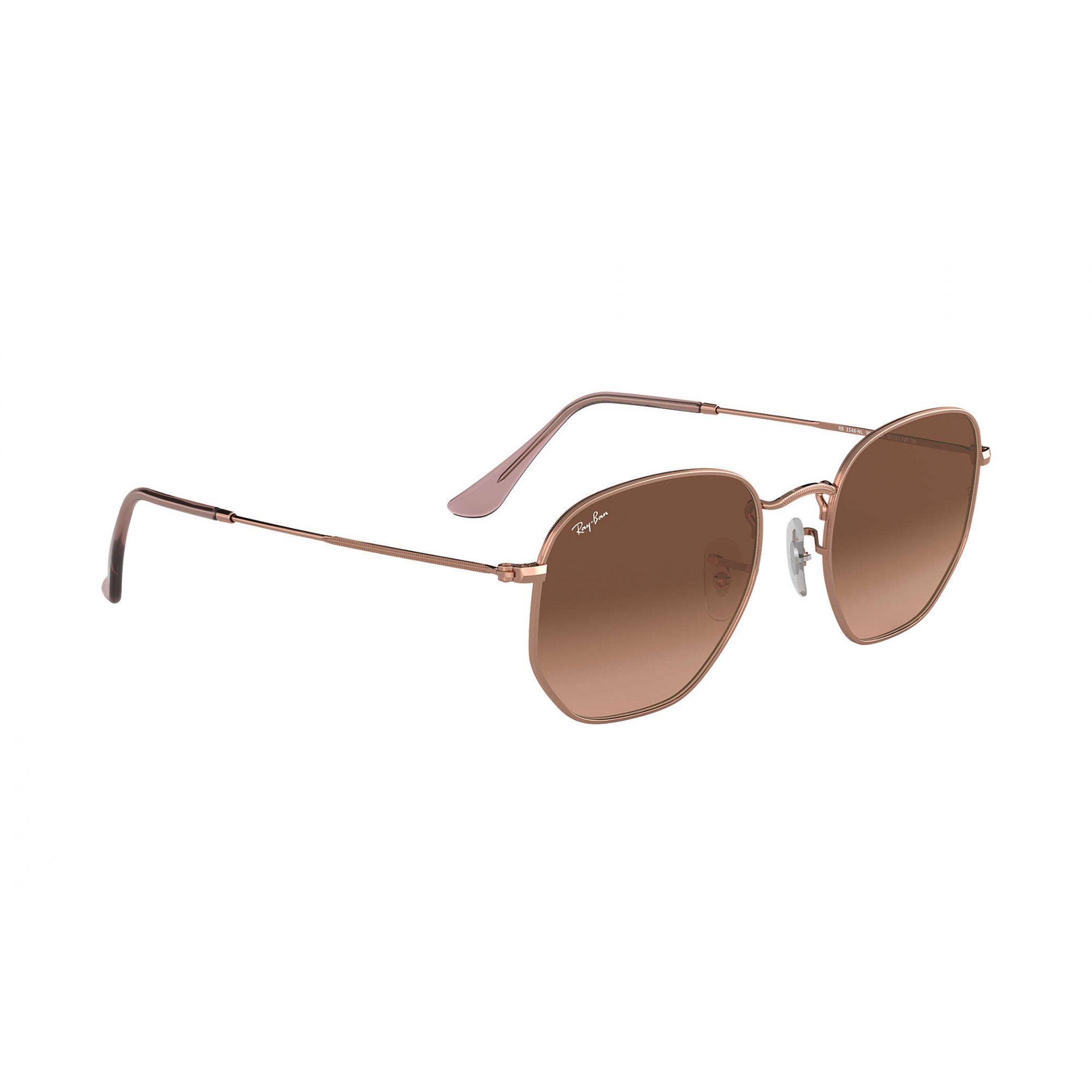 Óculos de Sol Ray-Ban Hexagonal Rosê Gold