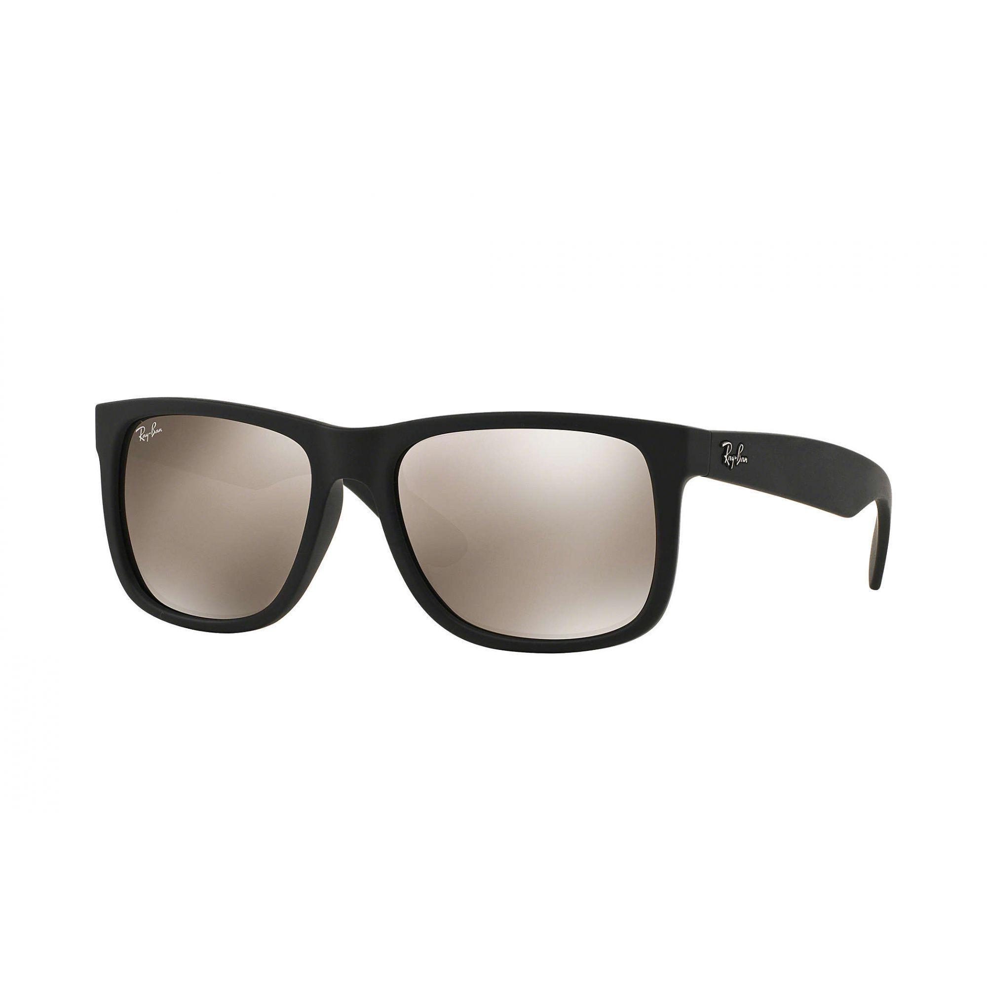 Óculos de Sol Masculino Ray-Ban Justin Espelhado Dourado
