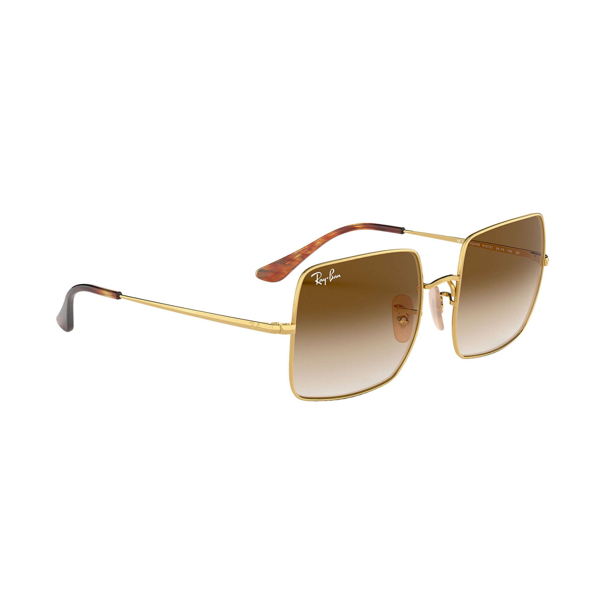 Óculos de Sol Unissex Ray-Ban Square Marrom Degradê