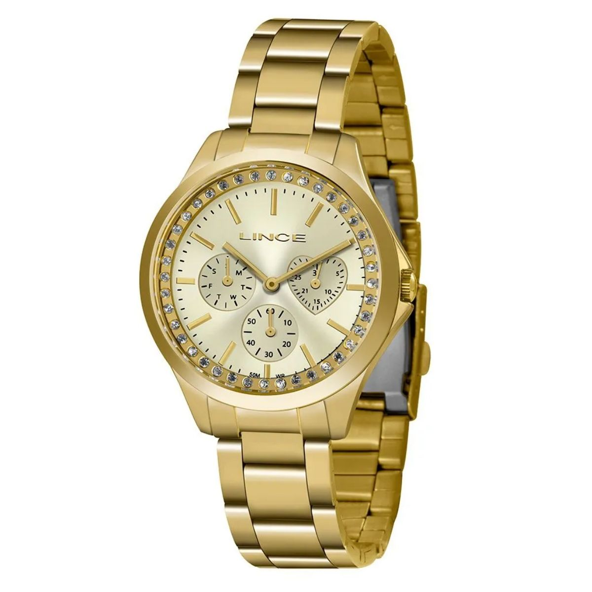 Relógio Feminino Lince Dourado LMGH117L