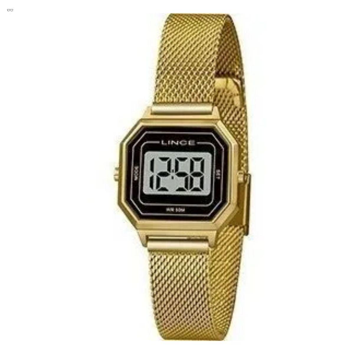 Relógio Feminino Lince Dourado SDPH127L