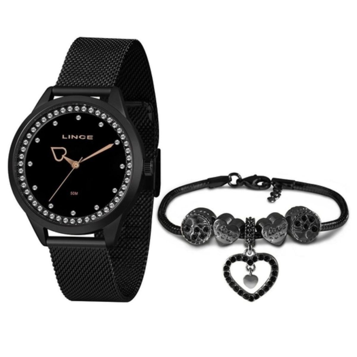 Relógio Feminino Lince  Preto LRM4666L