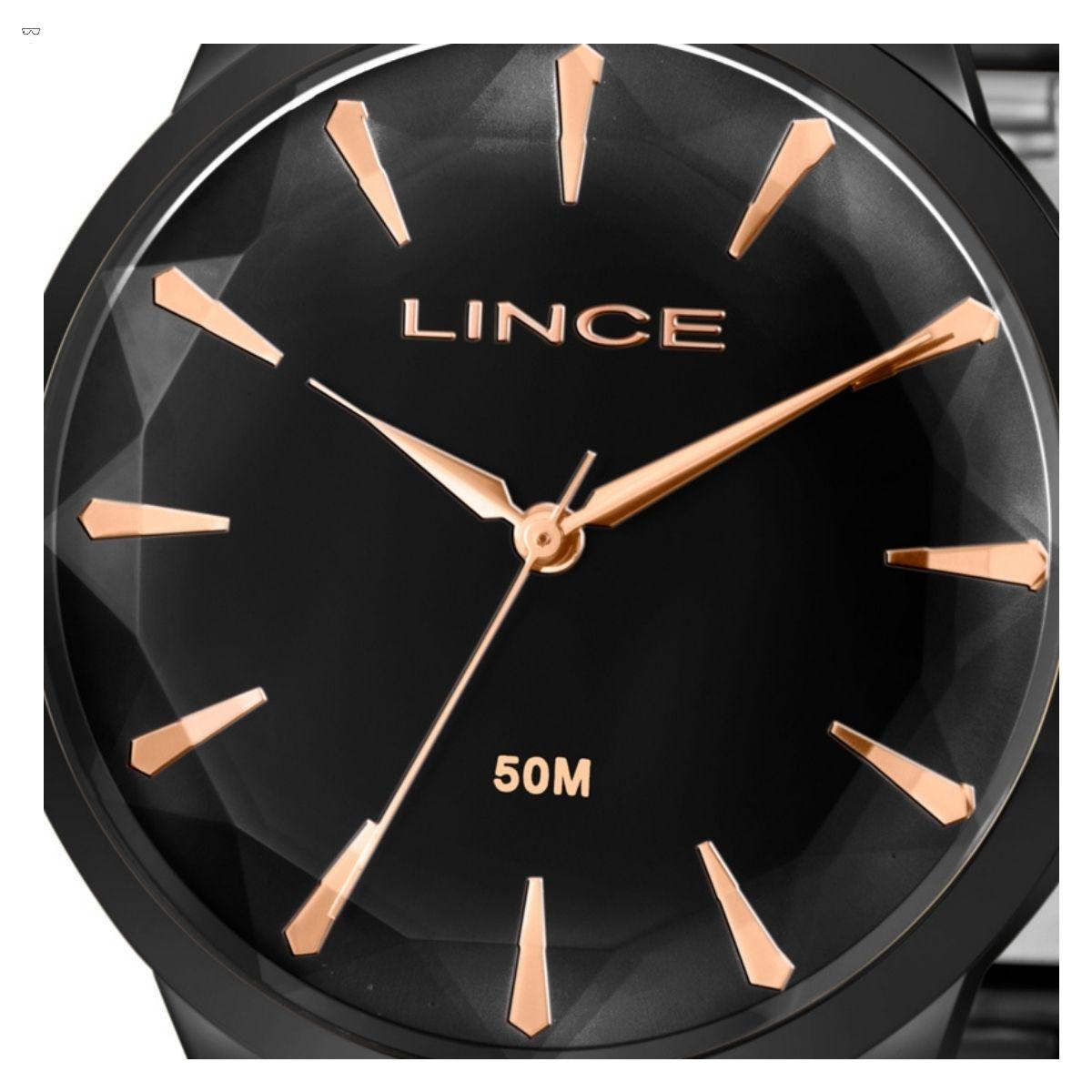 Relógio Feminino Lince Preto LRN4563L