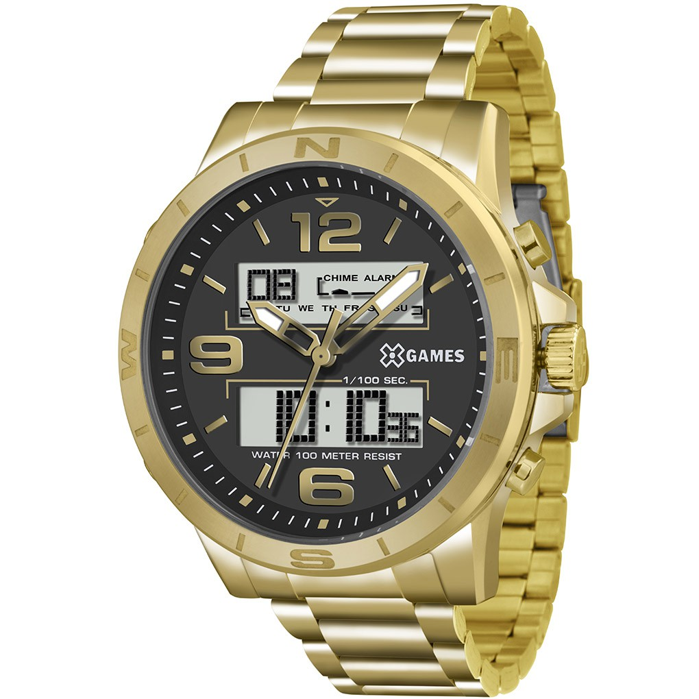 Relógio Masculino  X-Games XMGSA003 Dourado