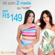 Kit 2 Maiôs - Maiô Body Engana Mamãe  e Maiô Body Aquática Mariana
