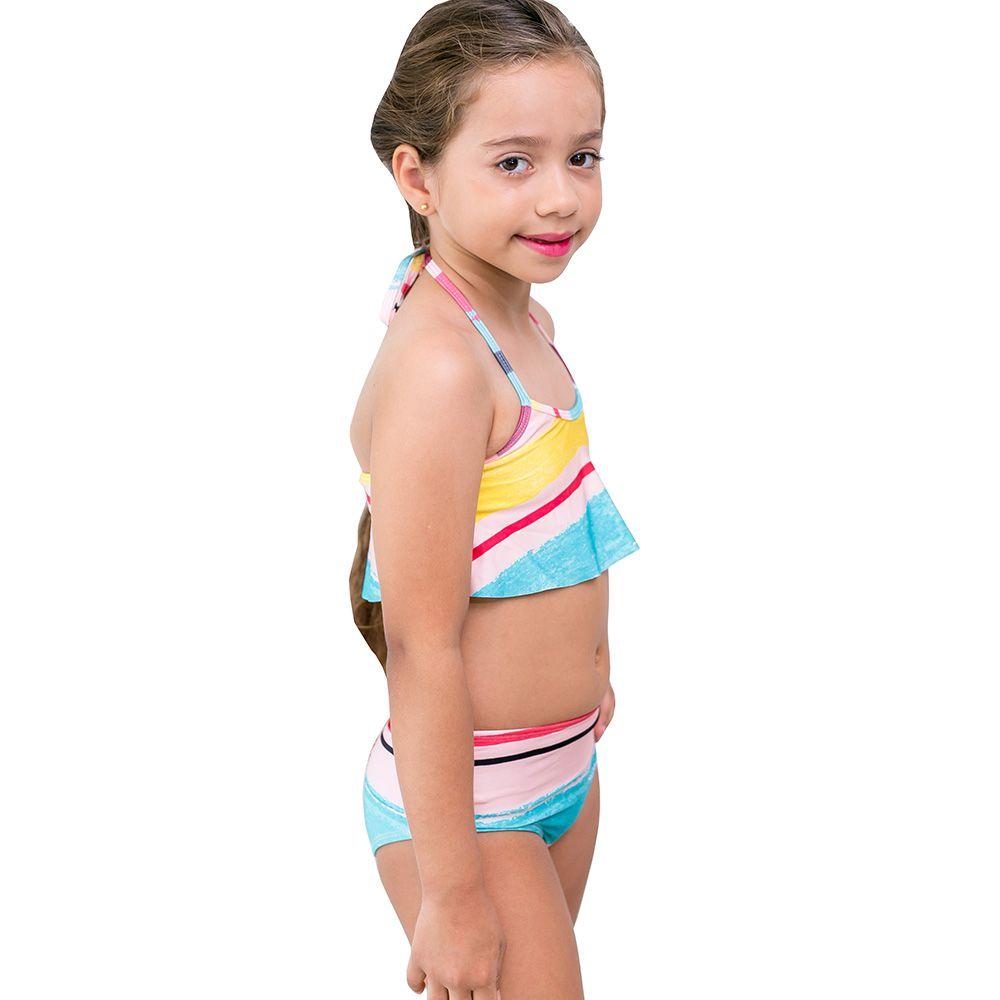 Biquini Infantil Cropped alto verão