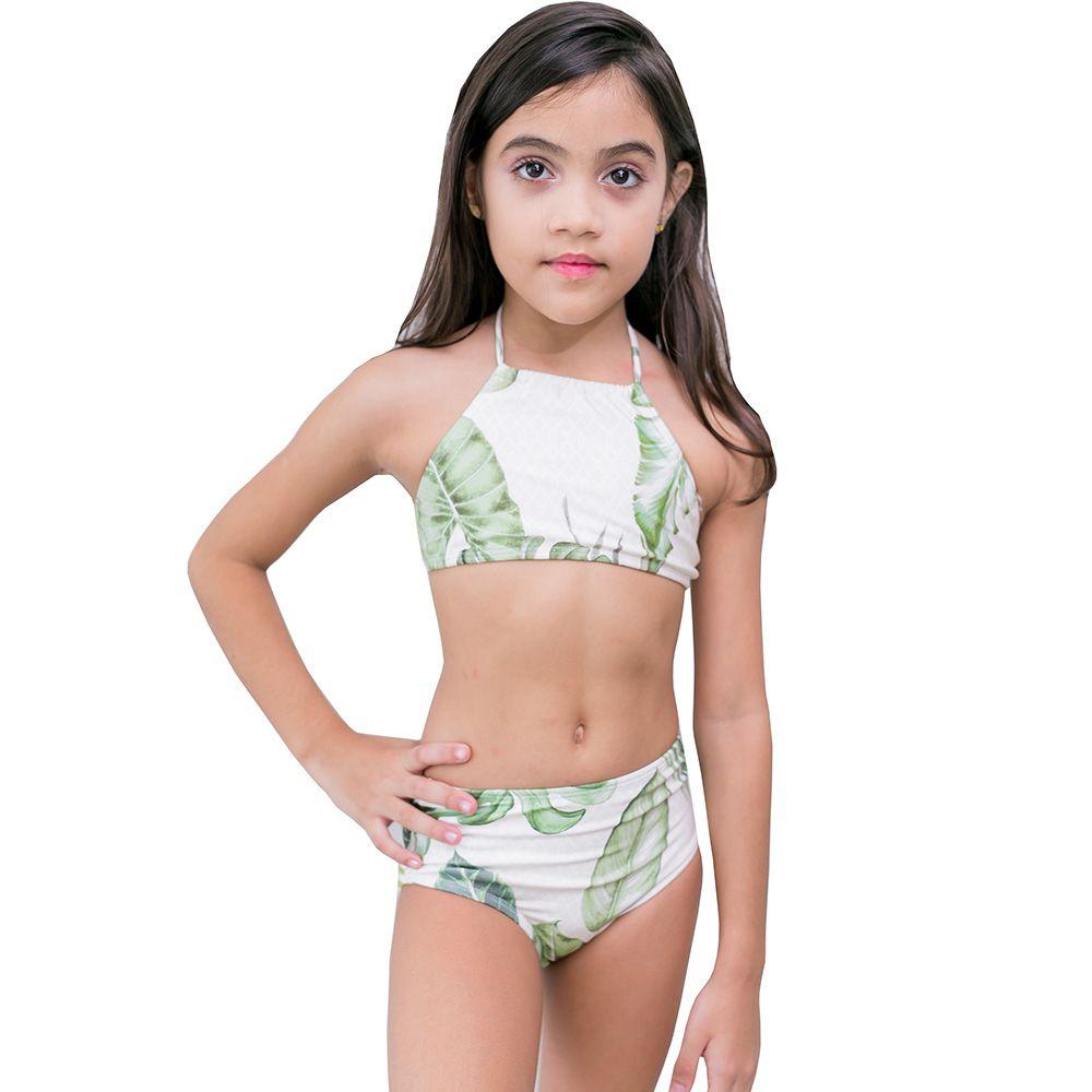 Biquini Infantil top cropped